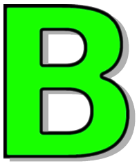 Capitol B Green Signs Symbol Alphabets Numbers Outlined