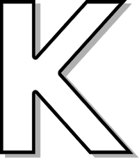Capitol K Outline Signs Symbol Alphabets Numbers