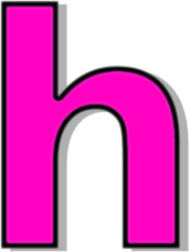 lowercase H pink - /signs_symbol/alphabets_numbers ...