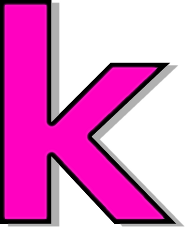K Letter Images In Pink pink - /signs_symbol/alphabets_numbers/outlined_alphabet/pink ...