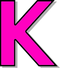 K Letter Images In Pink capitol k pink signs symbol alphabets numbers outlined alphabet