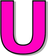 Barbie pink letter u icon - Free barbie pink letter icons |The Letter U In Pink