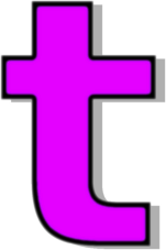 Lowercase T Purple Signs Symbol Alphabets Numbers