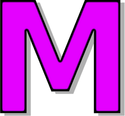 capitol m purple signssymbolalphabetsnumbers