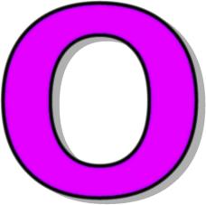 Purple Letter O Pictur...