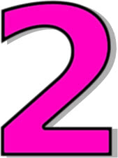 number 2 pink - /signs_symbol/alphabets_numbers/outlined ...