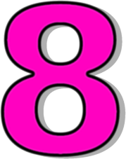 number 8 pink - /signs_symbol/alphabets_numbers/outlined_numbers/pink ...