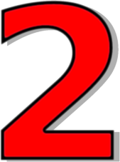 Red, Rounded,with Number 2 Clip Art at Clker.com - vector ...  |Red Number 2