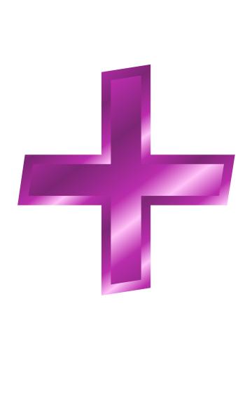 Purple Metal Addition Sign  Signs Symbol  Alphabets