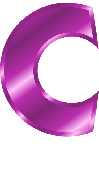 purple metal letter capitol C - /signs_symbol/alphabets ...