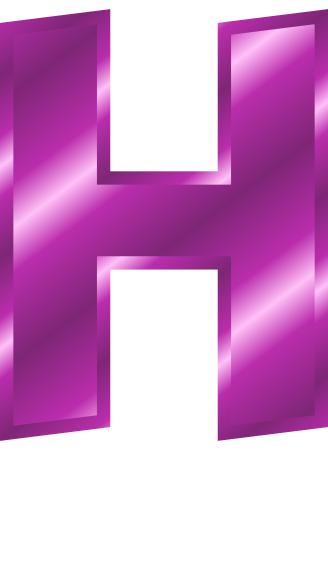 purple metal letter capitol h   signs symbol alphabets