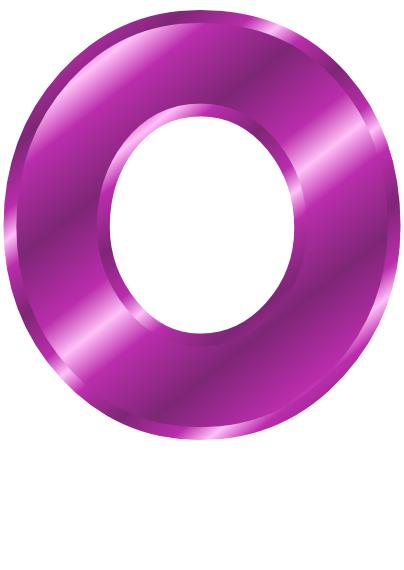 Letter O Purple...