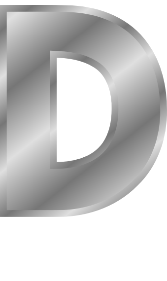 silver letter capitol d  signs symbol  alphabets numbers
