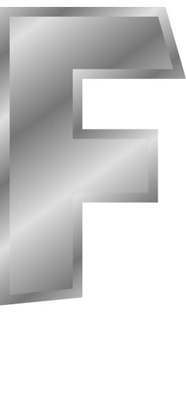 silver letter capitol f  signs symbol  alphabets numbers
