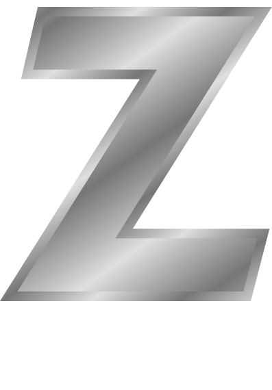 silver letter capitol Z - /signs_symbol/alphabets_numbers ...