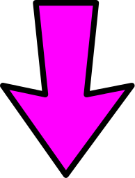 arrow outline pink down