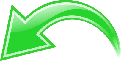 arrow curved green left   signs symbol  arrows  curved clip art arrows for direction clip art arrow down