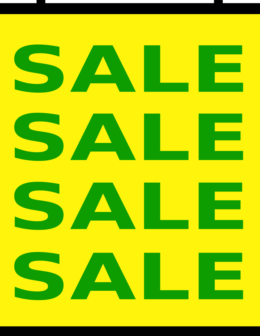 sale banner page green on yellow   signs symbol  business for sale clipart free for sale clip art free