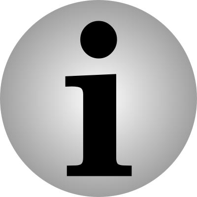 INFO ICON - public domain clip art image
