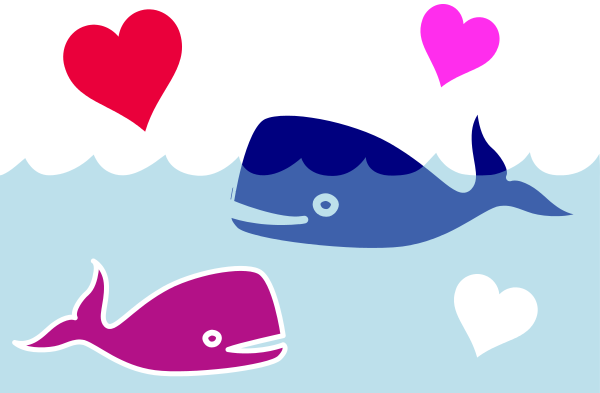 whale love   signs symbol  love  animals  whale love png html clip art of animals with horns clip art of animals spelled out in letters