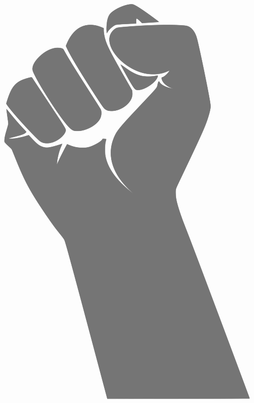 fist by loogieart   signs symbol  political  fist  fist  by fish clipart free fish clipart black and white