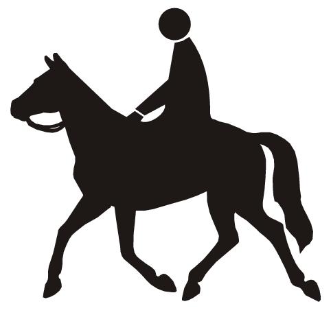 horse riding symbol