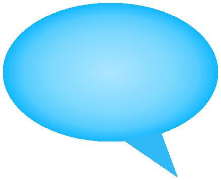 comment bubble gradient blue left - /signs_symbol/speech ...