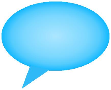 comment bubble gradient blue right - /signs_symbol/speech ...