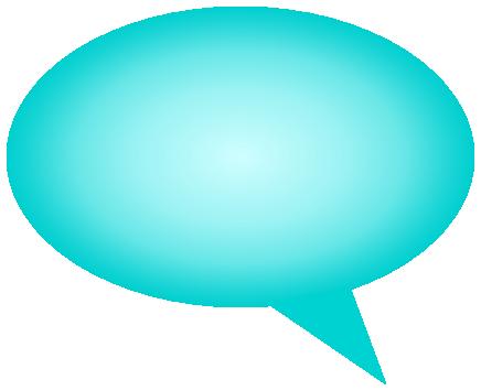 comment bubble gradient cyan left - /signs_symbol/speech ...