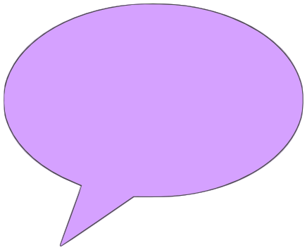 comment bubble solid purple right - /signs_symbol/speech ...