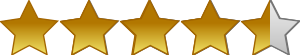 5 Star Rating System 4 and a half stars - /signs_symbol ...