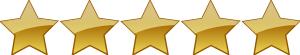 5 Star Rating System 5 stars