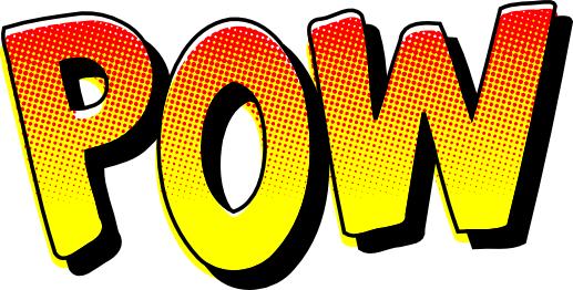 pow sound effect   signs symbol words pow sound effect
