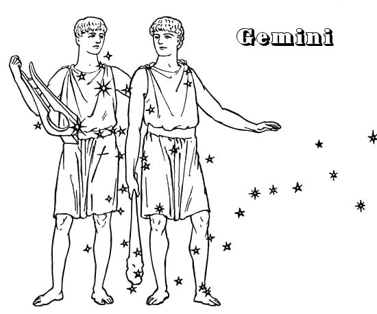 Gemini Horoscope Drawings Gemini