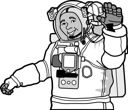 astronaut clip art. smiling astronaut