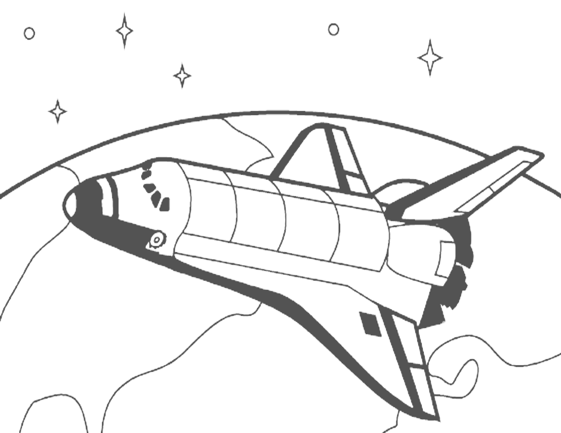 Detailed Coloring Pages Space Shuttle Coloring Pages