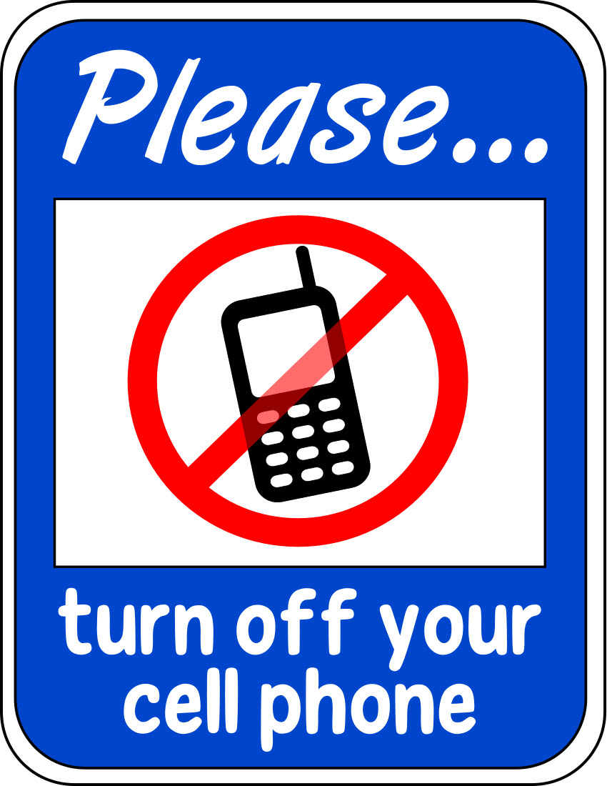 turn off cellphone sign  telephone  cellphone signs  turn