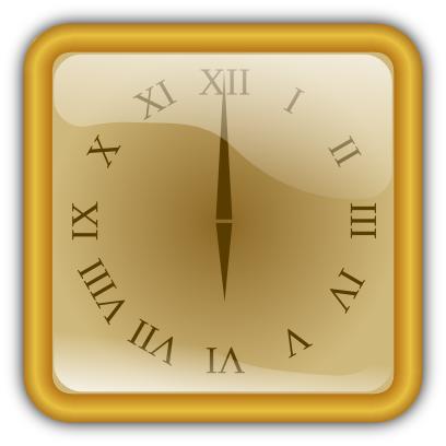 golden clock square