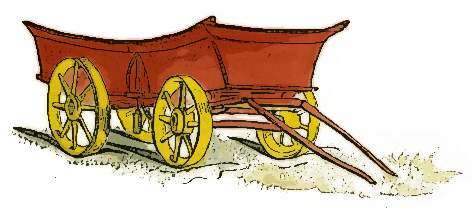 wagon wooden cart