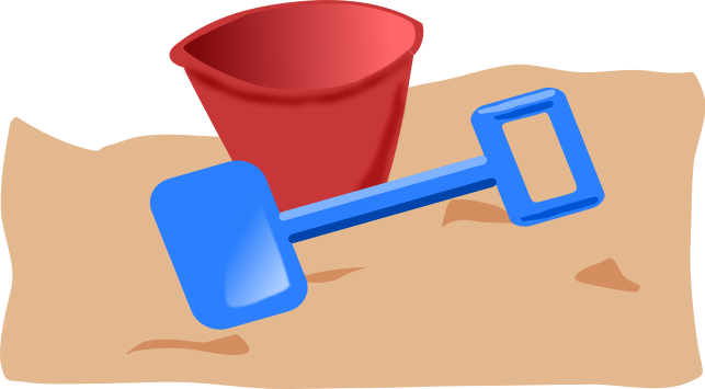 beach pail shovel