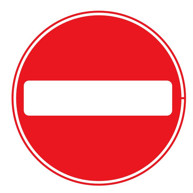 No Entry Sign Clip Art