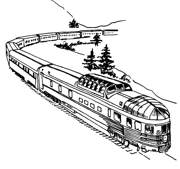 railroad crossing coloring pages - photo#29