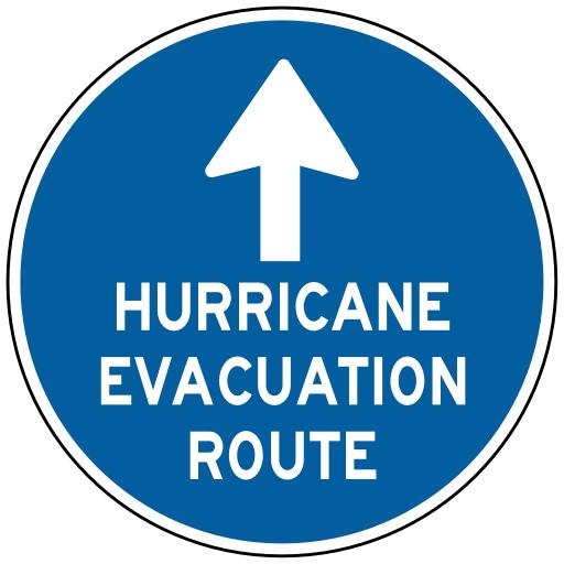 hurricane evacuation route travelusroadsignsinfo