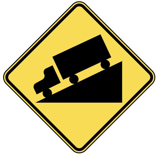 steep grade - public domain clip art image @ wpclipart.com
