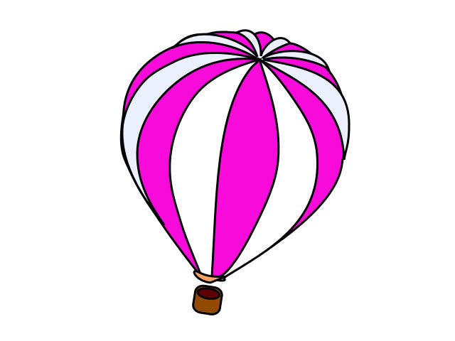 Hot air balloon pink white