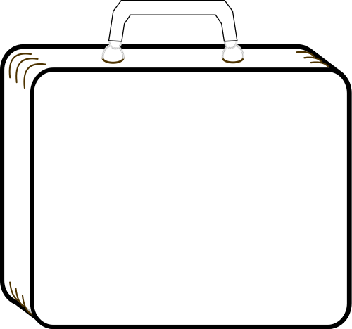 suitcase outline   travel  luggage  luggage 2  suitcase outline png html luggage clip art royalty free clipart luggage tag