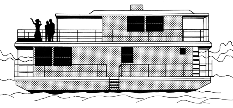 houseboat clipart - photo #10