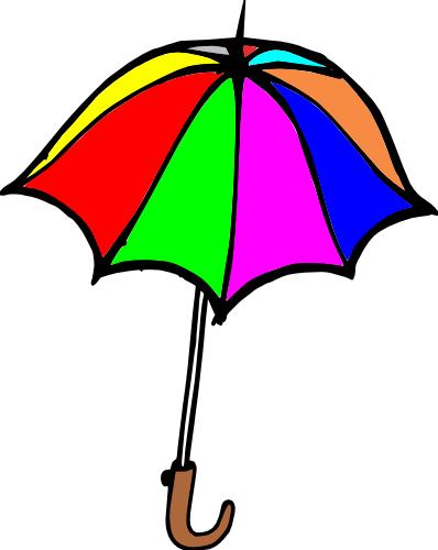 rainbow umbrella clip art - photo #20
