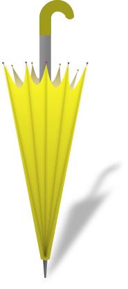 umbrella closed yellow - /weather/umbrella/umbrella_closed ...