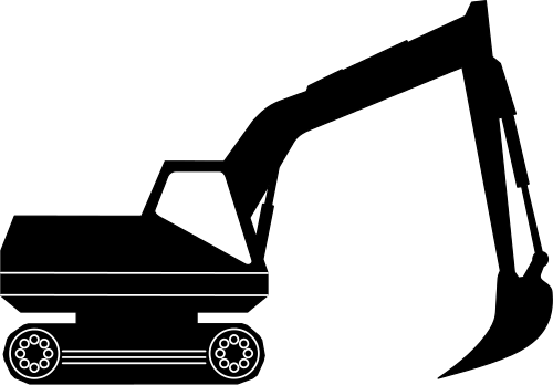 excavator black white - /working/vehicles/excavator/excavator_black ...